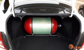 """Газовый баллон """"Метан"""" в багажнике Lada Granta"""