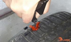 Самостоятельный ремонт бескамерной шины