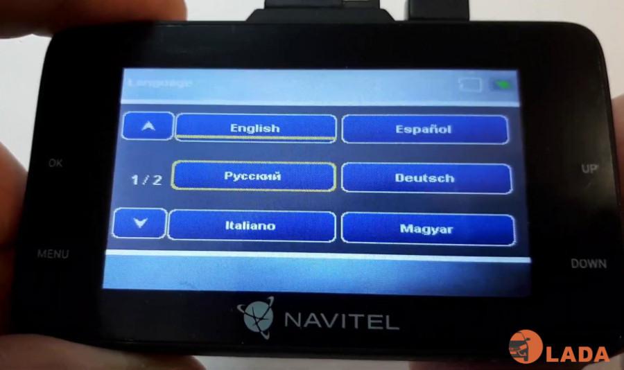 Настройка русского языка на видеорегистраторе NAVITEL DR500 NV