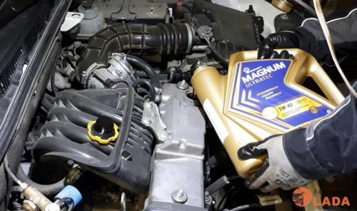 Замена масла в двигателе Лада Гранта самостоятельно